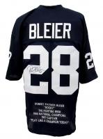 Rocky Bleier Signed Career Highlight Stat Jersey (JSA COA) at PristineAuction.com