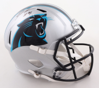 Derrick Brown Signed Panthers Full-Size Speed Helmet (Radtke COA) at PristineAuction.com