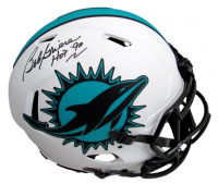 """Bob Griese Signed Dolphins Full-Size Authentic On-Field Lunar Eclipse Alternate Speed Helmet Inscribed """"HOF '90"""" (Beckett Hologram) at PristineAuction.com"""