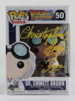 """Christopher Lloyd Signed """"Back To The Future"""" #50 Dr. Emmett Brown Funko Pop Figure Inscribed """"Doc"""" (JSA COA) at PristineAuction.com"""