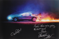 """Michael J. Fox & Christopher Lloyd Signed """"Back To The Future"""" 20x30 Photo with Extensive Inscription (AutographCOA LOA) at PristineAuction.com"""