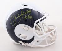 "Eric Dickerson Signed Rams Full-Size AMP Alternate Speed Helmet Inscribed ""HOF 99"" (Beckett COA & Denver Autographs COA) at PristineAuction.com"