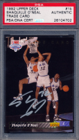 Shaquille O'Neal Signed 1992-93 Upper Deck #1 SP RC / NBA First Draft Pick (PSA Encapsulated) at PristineAuction.com