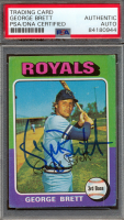 George Brett Signed 1975 Topps #228 RC (PSA Encapsulated) at PristineAuction.com