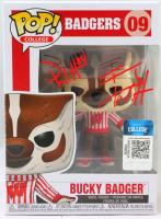 T.J. Watt & Derek Watt Signed Wisconsin Badgers #09 Bucky Badger Funko Pop! Vinyl Figure (Beckett Hologram) at PristineAuction.com