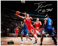 """Trae Young Signed Hawks LE 16x20 Photo Inscribed """"1st All Star"""" (Panini COA) at PristineAuction.com"""