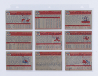 1957 Topps Complete Set of (407) Baseball Cards with #35 Frank Robinson, #10 Willie Mays, #328 Brooks Robinson, #1 Ted Williams, #20 Hank Aaron, #407 Yankees Power Hitters, #302 Sandy Koufax, #95 Mickey Mantle, #76 Roberto Clemente at PristineAuction.com