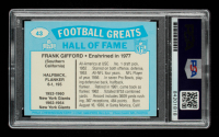 Frank Gifford Signed 1988 Swell Greats #43 77 (PSA Encapsulated) at PristineAuction.com