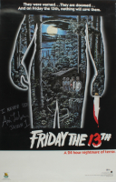"""Ari Lehman Signed """"Friday the 13th"""" 22.5x24.5 Poster Inscribed """"I Never Die"""" & """"Jason 1"""" (Beckett Hologram) (See Description) at PristineAuction.com"""