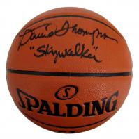 "David Thompson Signed NBA Game Ball Series Basketball Inscribed ""Skywalker"" (JSA COA) at PristineAuction.com"