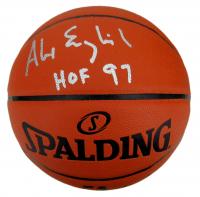 "Alex English Signed NBA Silver Series Basketball Inscribed ""HOF 97"" (JSA COA) at PristineAuction.com"