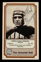 Red Grange Signed 1974 Fleer Hall of Fame #15 (JSA COA) at PristineAuction.com
