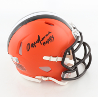 """Ozzie Newsome Signed Browns Speed Mini Helmet Inscribed """"HOF 99"""" (Beckett Hologram) at PristineAuction.com"""