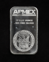 1 Troy Oz .999 Fine Silver APMEX Bullion Bar at PristineAuction.com