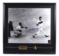 Ted Williams Signed Red Sox 21x23 Custom Framed Photo Display With Ted Williams 521 Career Homeruns Pin (Williams COA) at PristineAuction.com