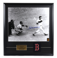Ted Williams Signed Red Sox 23x24 Custom Framed Photo Display With Red Sox Patch (Williams COA) at PristineAuction.com