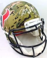J.J. Watt Signed Texans Full-Size Authentic On-Field Camo Alternate Speed Helmet (JSA Hologram & Watt Hologram) at PristineAuction.com