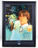 Star Wars 22x30 Custom Framed 1977 Original Coca Cola Promotion Poster Display with Original 1977 Darth Vader Lives Pin at PristineAuction.com