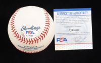 """Yogi Berra & Don Larsen Signed OML Baseball Inscribed """"10-8-56"""" (PSA COA & MM Hologram) at PristineAuction.com"""