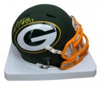 Davante Adams Signed Packers AMP Alternate Speed Mini Helmet (Beckett COA) at PristineAuction.com