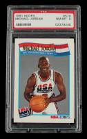 Michael Jordan 1991-92 Hoops #579 (PSA 8) at PristineAuction.com