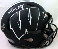 J.J. Watt, T.J. Watt & Derek Watt Signed Wisconsin Badgers Full-Size Authentic On-Field Eclipse Alternate Speed Helmet (JSA Hologram & Watt Hologram) at PristineAuction.com