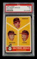 Eddie Robinson / Harry Brecheen / Luman Harris 1960 Topps #455 Baltimore Coaches (PSA 5) at PristineAuction.com