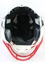 """J.J. Watt, T.J. Watt & Derek Watt Signed Wisconsin Badgers Full-Size Authentic On-Field SpeedFlex Helmet Inscribed """"On Wisconsin!"""" (JSA Hologram & Watt Hologram) at PristineAuction.com"""