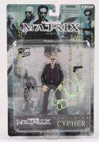 "Joe Pantoliano Signed ""The Matrix"" Cypher Action Figure (JSA COA) at PristineAuction.com"