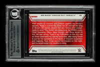 Big Show Signed 2014 Topps WWE Road to WrestleMania #48 Big Show Knocks Out Triple H (BGS Encapsulated) at PristineAuction.com