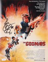 "Corey Feldman Signed ""The Goonies"" 11x14 Movie Poster Inscribed ""Love"" (JSA COA) (See Description) at PristineAuction.com"