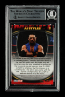 AJ Styles Signed 2009 TRISTAR TNA Impact #21 (BGS Encapsulated) at PristineAuction.com