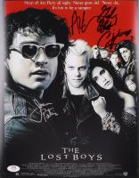 "Jason Patric, Alex Winter & Corey Feldman Signed ""The Lost Boys"" 11x14 Movie Poster Inscribed ""Love"" (PSA COA) at PristineAuction.com"