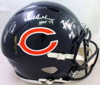 "Dick Butkus, Mike Singletary & Brian Urlacher Signed Bears Full-Size Authentic On-Field Speed Helmet Inscribed ""HOF 98"", ""HOF 69"" & ""HOF 18"" (Beckett Hologram) at PristineAuction.com"