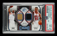 Scottie Pippen / LeBron James 2009-10 SP Game Used Combo Materials 50 #CMLS 28/50 (PSA 8) at PristineAuction.com