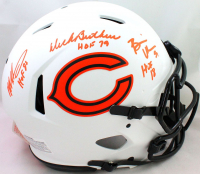 "Dick Butkus, Mike Singletary & Brian Urlacher Signed Bears Full-Size Authentic On-Field Lunar Eclipse Alternate Speed Helmet Inscribed ""HOF 98"", ""HOF 69"" & ""HOF 18"" (Beckett Hologram) at PristineAuction.com"