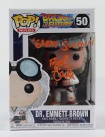 "Bob Gale Signed ""Back To The Future"" #50 Dr. Emmett Brown Funko Pop Figure Inscribed ""Great Scott"" (AutographCOA COA) (See Description) at PristineAuction.com"
