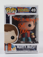 """Bob Gale Signed """"Back to the Future"""" #49 Marty McFly Funko Pop! Vinyl Figure Inscribed """"This Is Heavy!"""" (AutographCOA COA) at PristineAuction.com"""