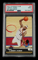 LeBron James 2007-08 Stadium Club First Day Issue #23 (PSA 9) at PristineAuction.com