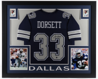 Tony Dorsett Signed 35x43 Custom Framed Jersey Display (Beckett Hologram) at PristineAuction.com