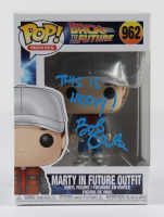 """Bob Gale Signed """"Back To The Future"""" #962 Marty In Future Outfit Funko Pop Figure Inscribed """"This Is Heavy!"""" (AutographCOA COA) at PristineAuction.com"""