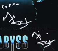 """Michael Biehn Twice Signed """"The Abyss"""" 11x14 Movie Poster Inscribed """"Coffe"""" (PSA COA) at PristineAuction.com"""