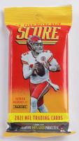 2021 Panini Score NFL Football Value Cello Fat Pack with (40) Cards at PristineAuction.com