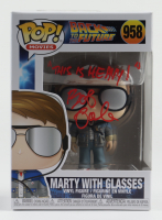 """Bob Gale Signed """"Back to the Future"""" #958 Marty With Glasses Funko Pop! Vinyl Figure Inscribed """"This Is Heavy!"""" (AutographCOA COA) at PristineAuction.com"""