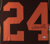 Nick Chubb Signed 35x43 Custom Framed Jersey (Beckett COA) at PristineAuction.com