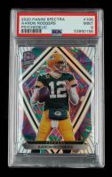 Aaron Rodgers 2020 Panini Spectra Psychedelic #106 #5/5 (PSA 9) at PristineAuction.com