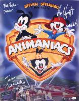 "Maurice LaMarche, Rob Paulsen & Tress MacNeille Signed ""Animaniacs"" 16x20 Photo Inscribed ""Yakko, Wakko!, Dot XOXO"" (JSA COA) at PristineAuction.com"