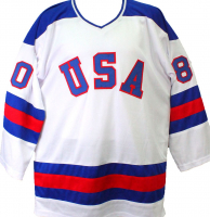 """1980 """"Miracle on Ice"""" Hockey Jersey Team-Signed by (18) with Mike Eruzione, Jim Craig, Craig Patrick, Dave Silk (Beckett Hologram) at PristineAuction.com"""