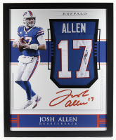 Josh Allen Signed 35x43 Custom Framed Jersey (Beckett Hologram) at PristineAuction.com
