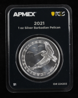 2021 Barbados 1 Oz Ag 999 Silver Pelican $1 Silver Coin (PCGS Mint Direct First Strike) at PristineAuction.com
